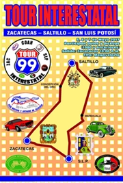 Tour Interestatal Zacatecas - Saltillo - San Luis Potosí