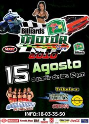 Billiard Pool Motor Show 2010 este 15 DE AGOSTO