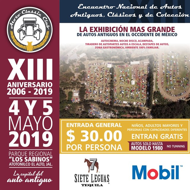 13th National Gathering of Old Cars Atotonilco