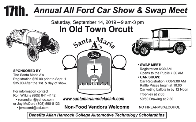 17th Annual All Ford Car Show & Swap Meet
