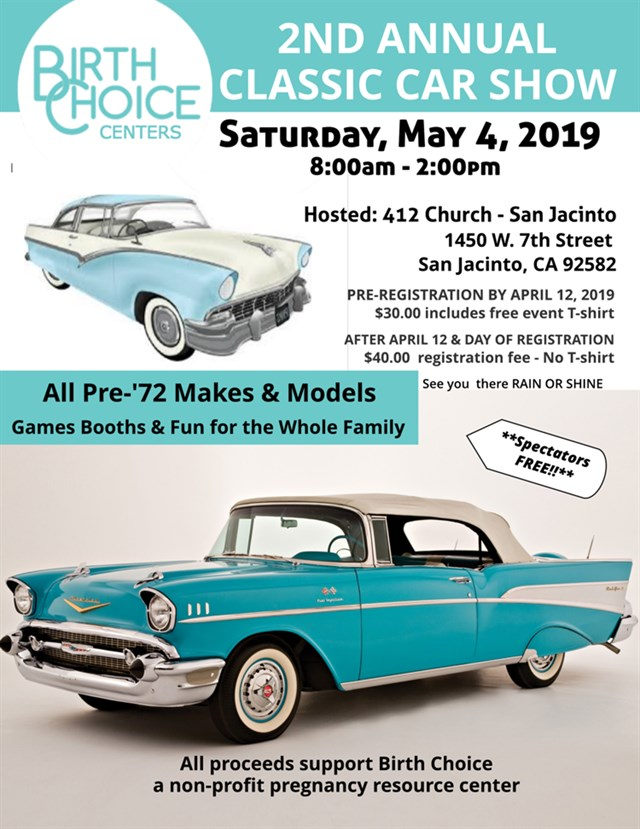 2nd Annual Classic Car Show Birth Choice
