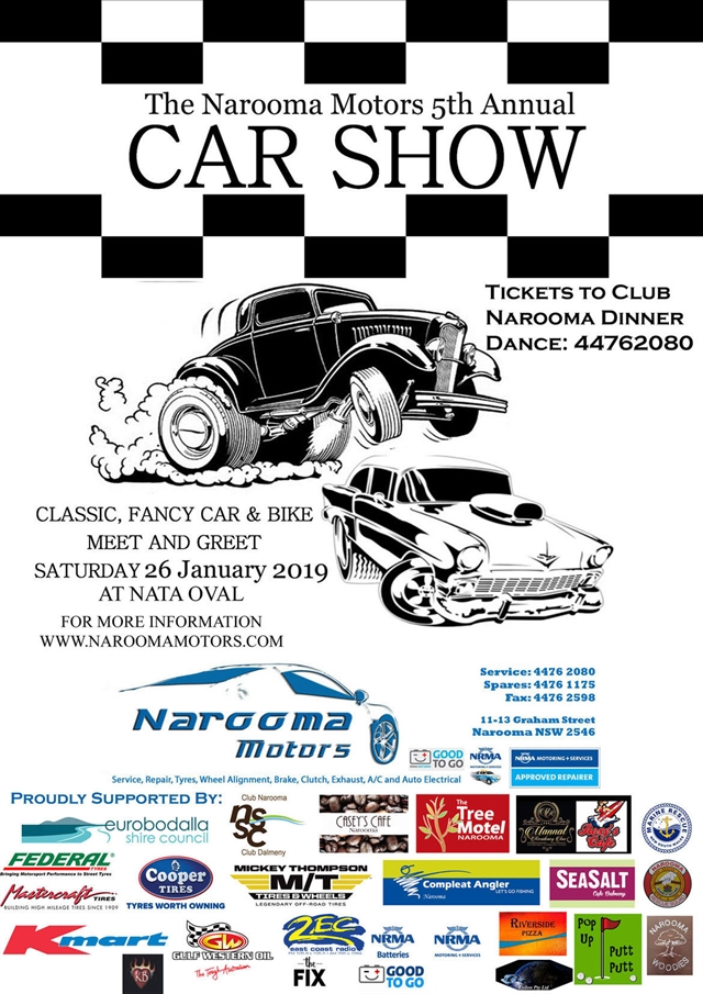 The 2019 Fifth Annual Narooma Motors Car and Bike Show