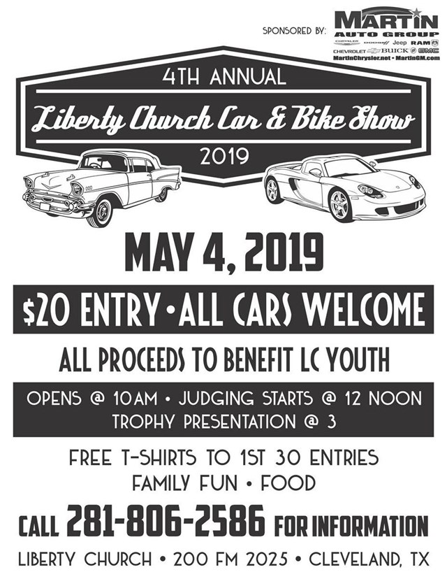 4th Annual Car & Bike Show Liberty Church