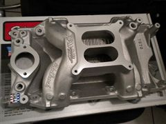 MOPAR EDELBROCK PERFORMER RPM AIR GAP MANIFOLD 318-340-360