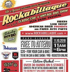 Más información de 6th Annual Rockabillaque Classic Car & Vintage Bike Show