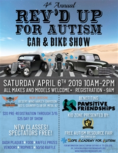 4th Annual REV'D UP for Autism Car & Bike Show