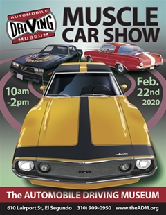 Más información de Muscle Car Show at the Automobile Driving Museum 2020