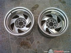 Par de rines traceros de cama ancha 15x10 tipo drag, centerline, eagle alloys, etc.