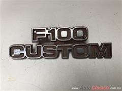 FORD  PICK UP  F100  CUSTOM  1977 A  1979 EMBLEMA ORIGINAL