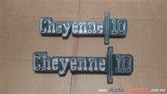 emblemas laterales chevrolet cheyenne del 73-79