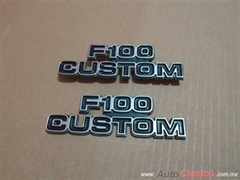 EMBLEMAS LATERALES FORD F100 CUSTOM DEL 73-79