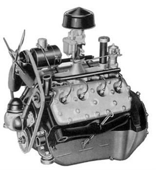 advantages of a flathead (side-valve) engine over an overhead valve engine  were cost of manufacture and simplicity  with valves positioned in the  engine