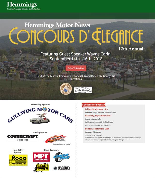 Hemmings Motor News 12th Annual Concours d'Elegance