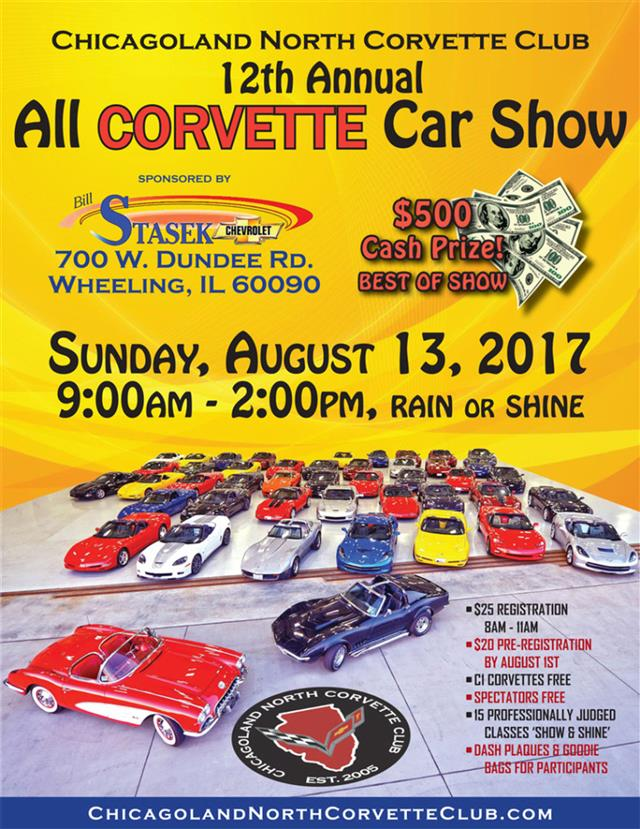 12th Anual All Corvette Car Show