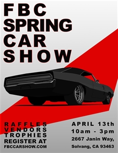 Más información de First Baptist Church Spring Car Show 2019