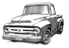 cofre para ford pick up modelo 1953 1954 1955 1956