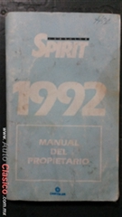 manual  del propietario del Dodge Spirit 1992