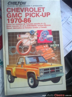 manual de mantenimiento y servicio,chevrolet,GMC,pick-up,1970-1986.