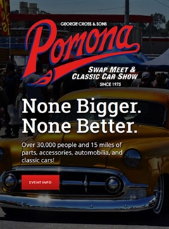 Pomona Swap Meet & Classic Car Show March 2020