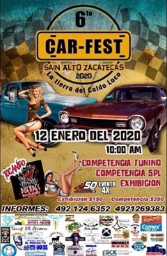 6o Car Fest, Sain Alto, Zacatecas