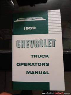 MANUAL DE USUARIO CHEVROLET PICK-UP APACHE 1959 Y DIAGRAMA DE CONEXIONES ELÉCTRICAS.