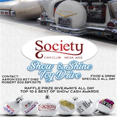 Society Car Club Mesa, Arizona Show & Shine Toy Drive 2019