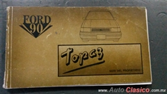 manual del propietario del Ford Topaz 1990