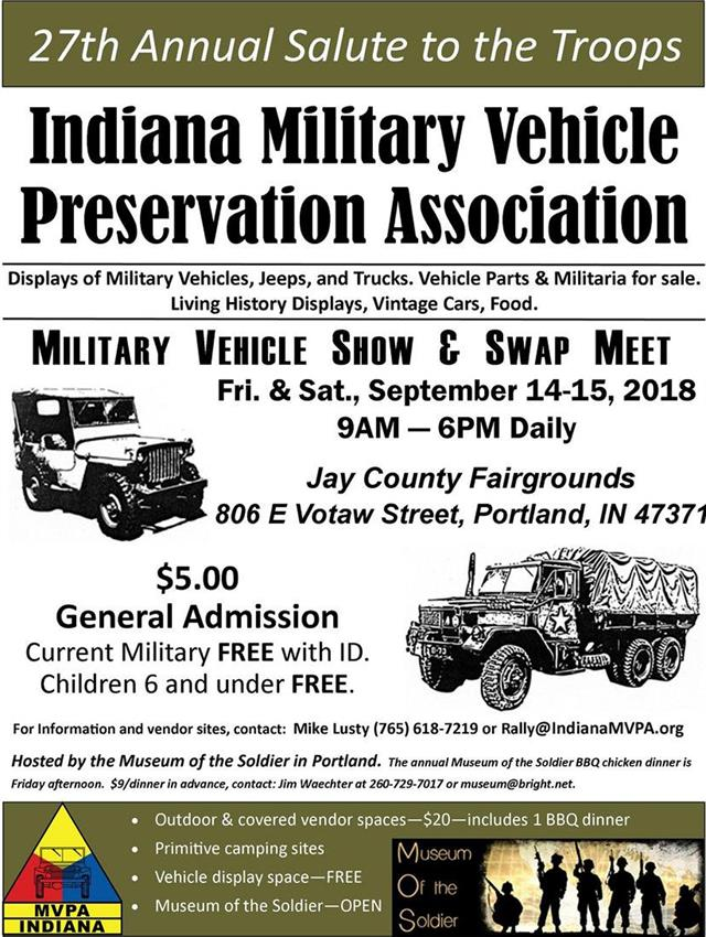 27th Annual Military Vehicle Show and Swap Meet