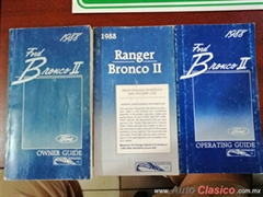MANUAL FORD BRONCO 1988