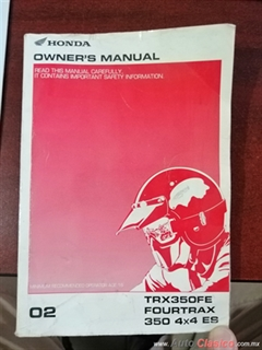 MANUAL CUATRIMOTO TRX-350
