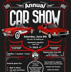 Elks Annual Car Show & Charity Event 2019