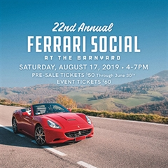 Ferrari Social at The Barnyard 2019