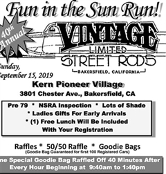 "40th Annual ""Fun In The Sun Run"" Car Show"